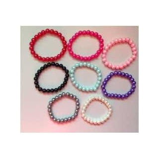 pulsera perlas colores