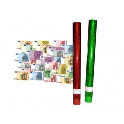 CAÑON CONFFETI CON BILLETES DE € 60 CM.48 UND
