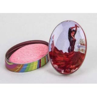 Caja ovalada flamenca con jabon