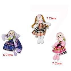 Muñeca Broche Tela 3 modelos surtidos