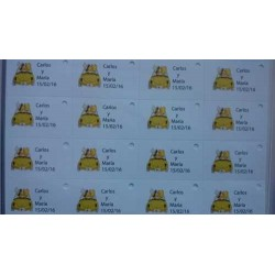 Tarjeta Novios Coche  incluye 45 unidades