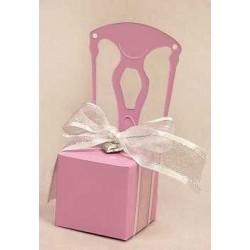 Cajita silla rosa