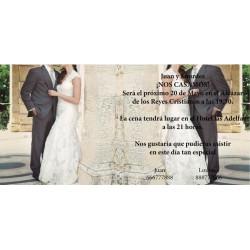 Invitacion de boda novios