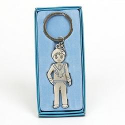 Llavero de niño en color azul para regalar en comunión
