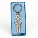 Llavero de niño en color azul para regalar en celebración infantil