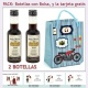 """2 Botellitas de Vino Dulce """"Pedro Ximénez"""" con bolsa y tarjeta"""