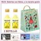 2 Botellitas de Licor de Crema de Limón con bolsa y tarjeta