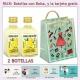 2 Botellitas de Crema de Limón con bolsa fashion con mujer y tarjeta