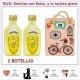"""2 Botellitas de Limoncielo con bolsa """"fashion con bicicleta"""" y tarjeta"""