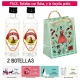 "2 Botellitas 40ml de Anís Dulce con bolsa ""fashion con mujer"" y tarjeta"