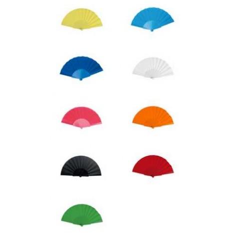 Abanicos tela surtido en colores (precio unidad)