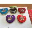 espejo forma de corazon varios colores