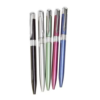 Bolígrafos de colores franja plateada surtidos