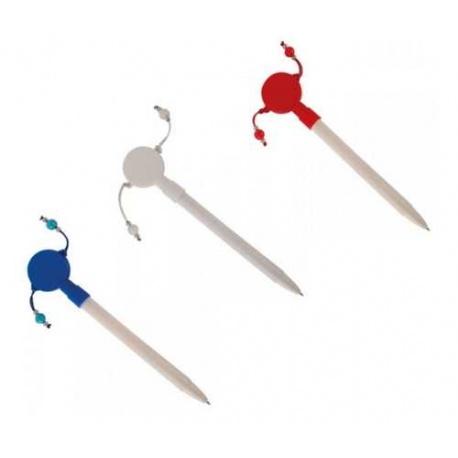 Bolígrafos maracas en colores surtidos (precio unidad)