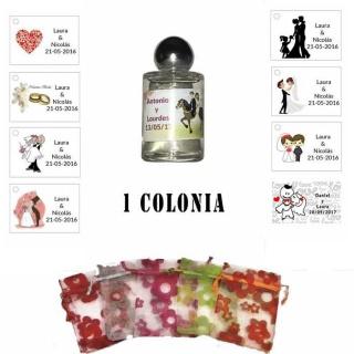 Colonia personalizada con bolsa original