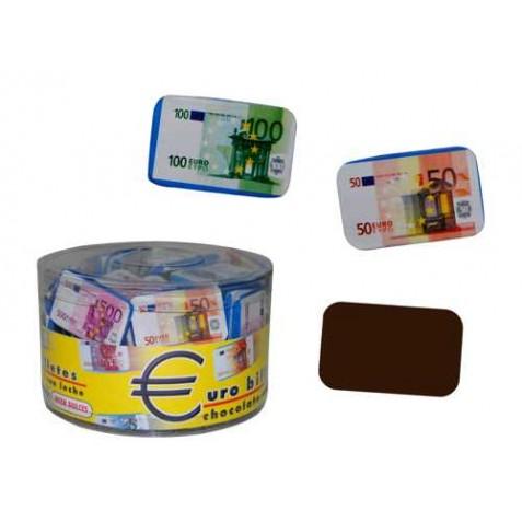 EUROBILLETES DE CHOCOLATE (1 Kg.)(Aprox. 90 Unds.)