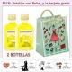 2 Botellitas de Limoncielo con bolsa fashion con mujer y tarjeta