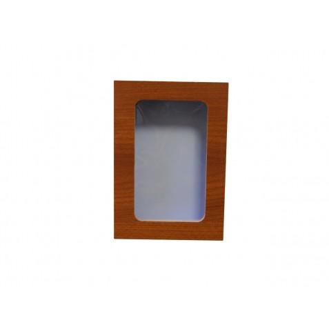 ESTUCHE DE MADERA CON VENTANA (7x10 cm.)