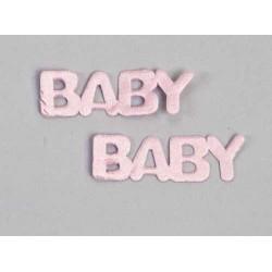 Pin letra baby rosa gde.