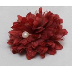 Tocado Rojo con perla