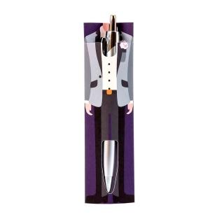Bolígrafo con elegante traje de caballero