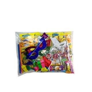 Bolsa para piñata con surtido de golosinas y regalos