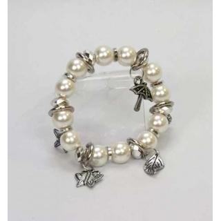 Pulseras perlas con colgantes y adornos (precio unidad)