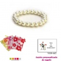 Pulsera de perlas blancas, sencilla y elegante