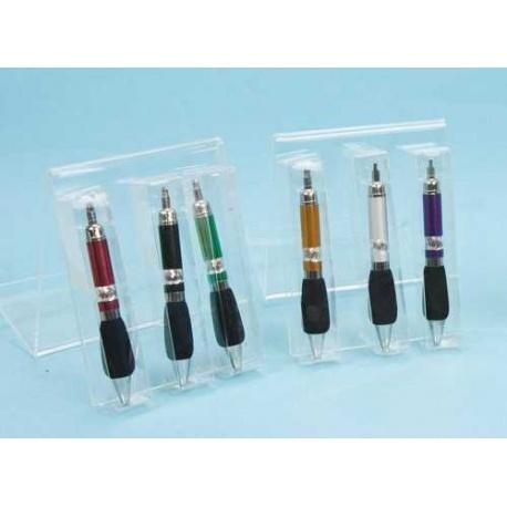 Bolígrafos grueso con caja acetato en 6 colores (precio unidad)
