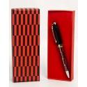 Estuche bolígrafos rojo-negro en caja (precio unidad)