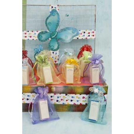 Perfume Sara en organza con mariposa