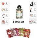 Colonia personalizada para regalos de invitados