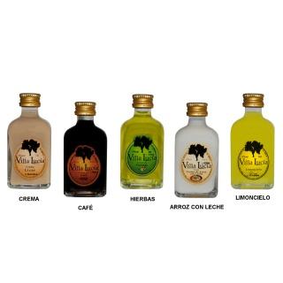 Botella de licor mini con 5 sabores para regalos de boda