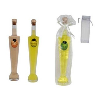´BOTELLA DE LICOR SILVIA (10 cl.) + BOLSA TUL LISA (8527)