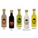 Botella de licor sol para detalles de boda