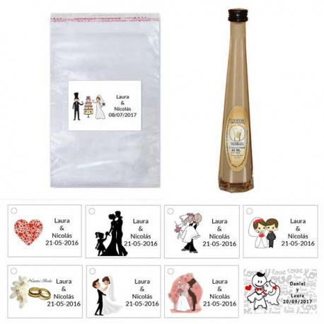 Pack Licor de crema en bolsa celofán y tarjeta