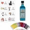 Vodka Premium en bolsa organza y tarjeta