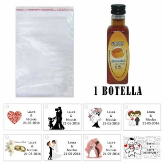 Vodka Caramelo en bolsa celofan y tarjeta