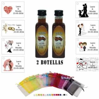 Licor Café en bolsa organza y tarjeta