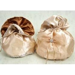 Bolso novia filo plateado O Bolso novia con lazo y adornos plata (precio unidad)