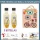 "2 Botellitas de Licor de Arroz con Leche con bolsa ""fashion con bici"" y tarjeta"