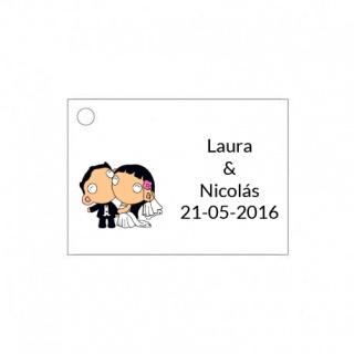Tarjetita de boda novios original y barata