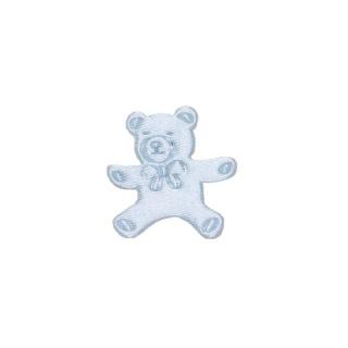 Pin oso pequeño azul y rosa