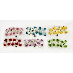 Bolsa 12 pomos bicolor con 12 flores surtidos = 144 unidades