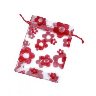 Bolsas de organza rojo para regalos