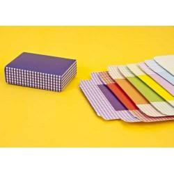 Caja cuadrada cuadros surtidos en colores
