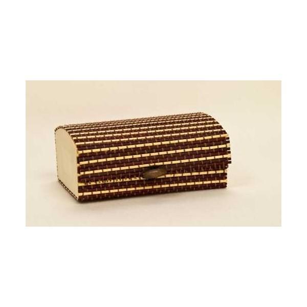 caja bambu marron