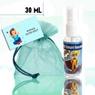 Gel Hidroalcohólico de Superhéroe 30ml, con bolsa y tarjeta