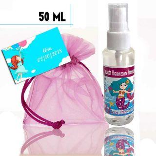 Gel Hidroalcohólico de Sirenita 50ml, con bolsa y tarjeta