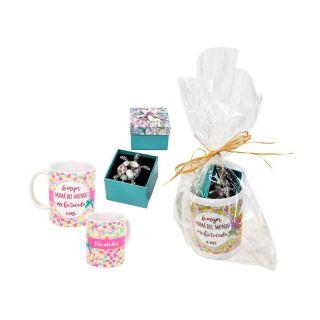 Pack para regalar a las madres, con taza y broche de tortuga